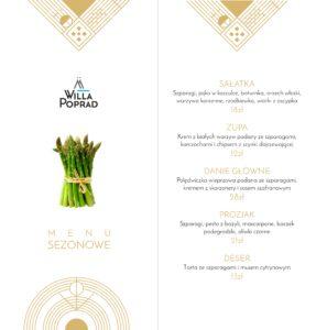 menu szparagi